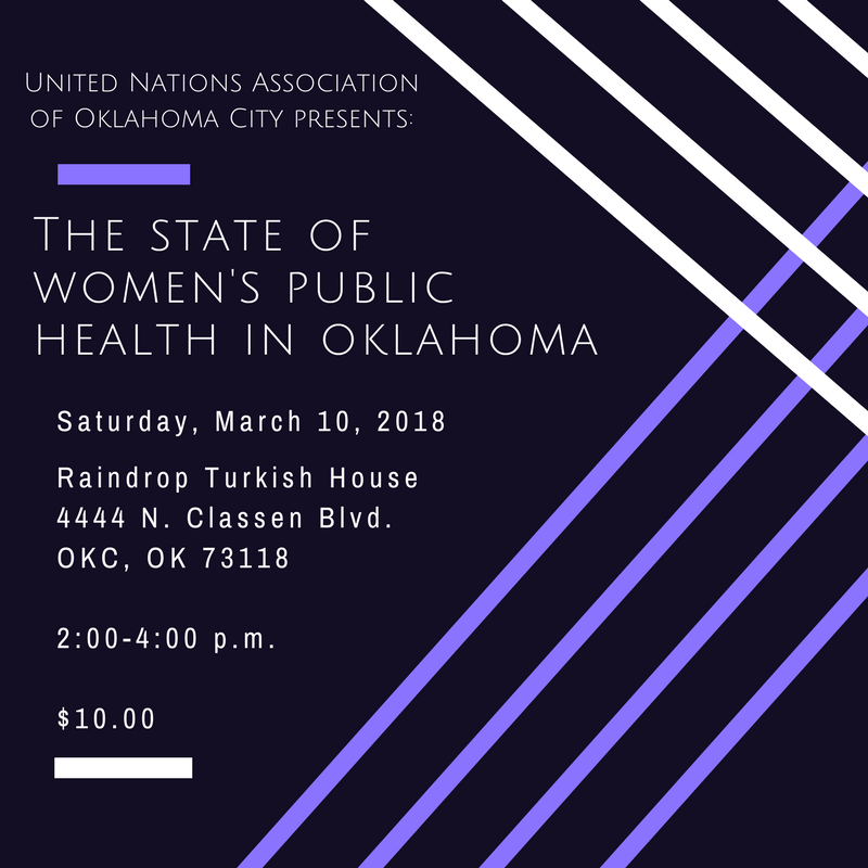 UNA-OKC Save the Date for International Women's Day Program 2018
